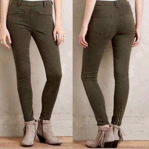 Pilcro  Superscript Green Zip Ankle Skinny Jeans